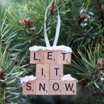"""Let It Snow"" Scrabble Ornament"