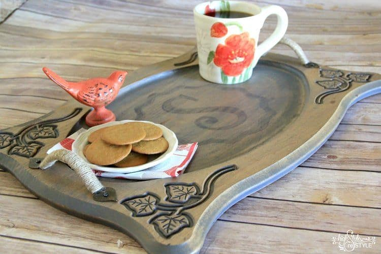 Diy Monogram Serving Tray Knockoffdecor Com