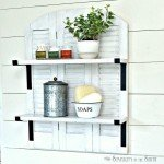 Farmhouse Style Shelf from Shutters