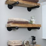 DIY Floating Industrial Pipe Shelves