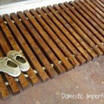 Easy Wooden Slat Doormat