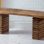 Crate and Barrel Style Wooden Bench