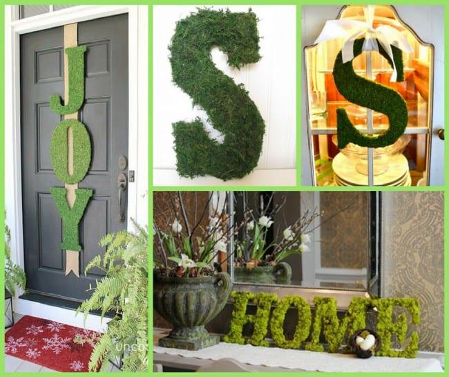 DIY moss decor
