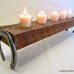 DIY Horseshoe Candle Table