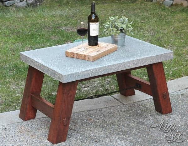 Fabulous Concrete Coffee Table - Pottery barn picnic table