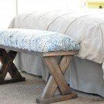 DIY Criss Cross Upholstered Bench Seat