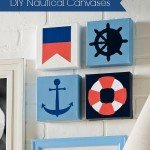 DIY Modern Nautical Canvases
