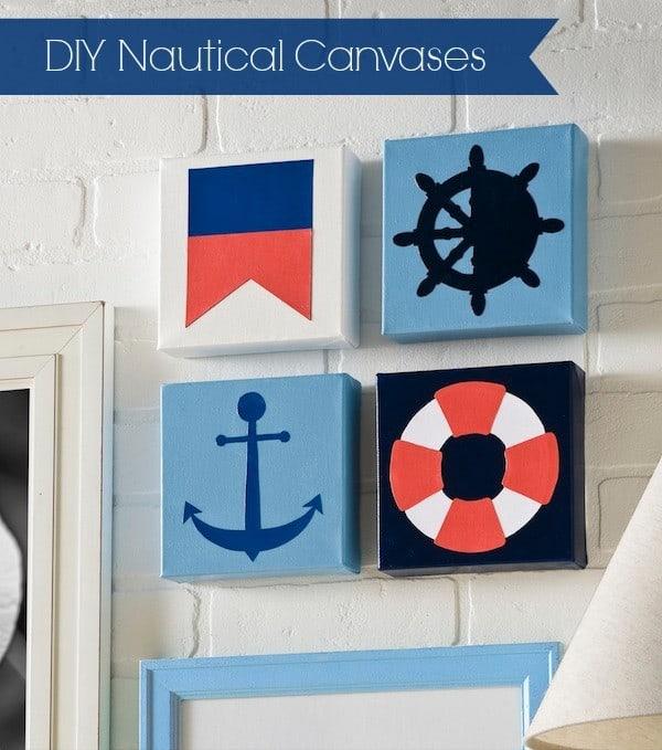 diy modern nautical canvases. Black Bedroom Furniture Sets. Home Design Ideas