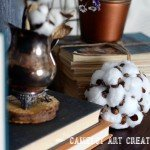 DIY Faux Cotton Pine cone Decoration