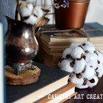 DIY Faux Cotton Pine cone Decoration