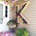 DIY Lettered Wall Planters