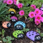 Cute DIY Ladybug Painted Rocks