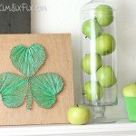 DIY Shamrock String Art