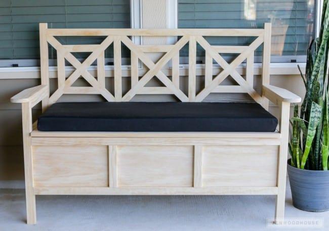Backyard Storage Bench