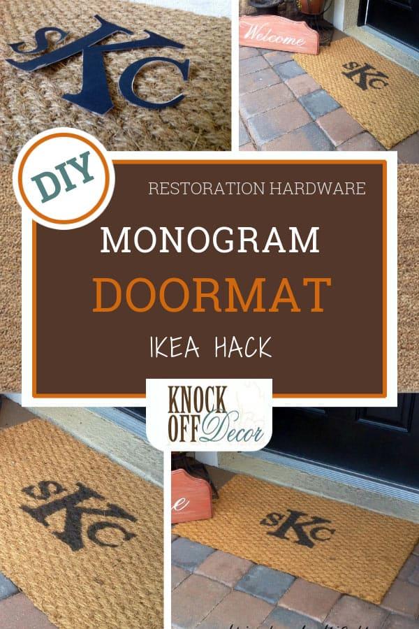 Ikea Hack Monogrammed Doormat Knockoffdecor Com