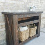 Chunky Rustic Television Stand