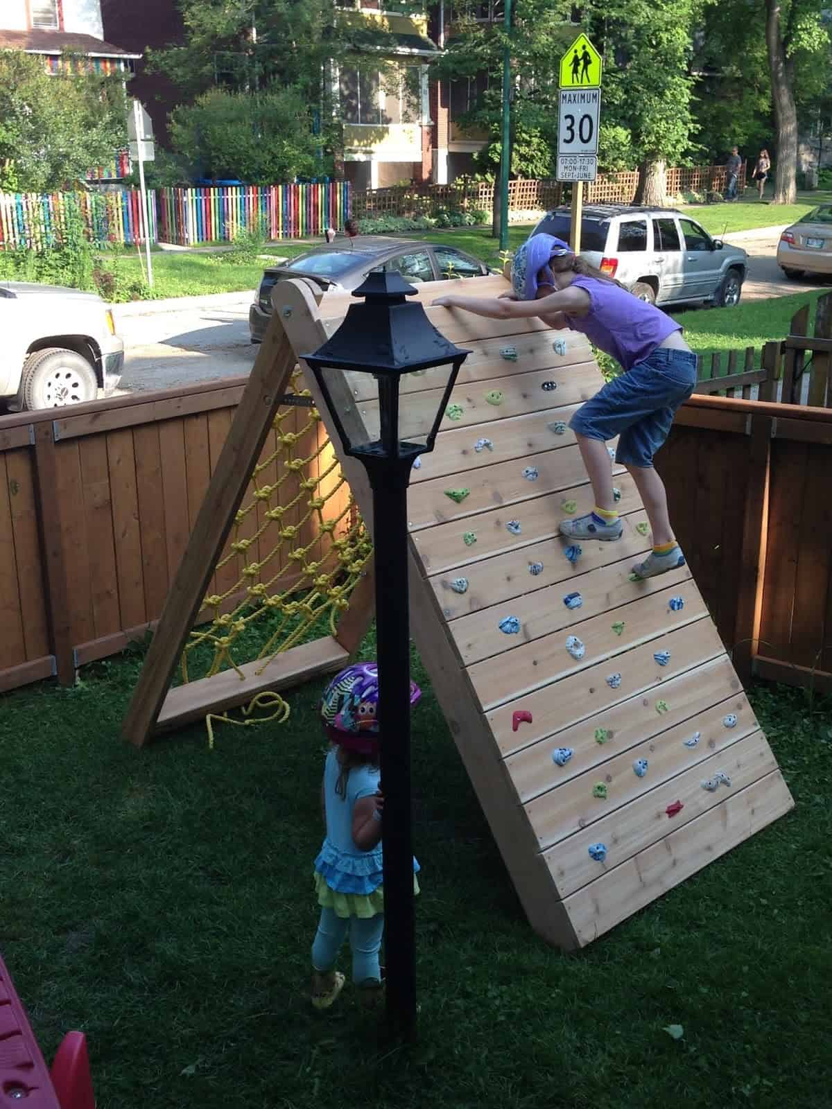 Backyard Climbing Wall For The Kids Knockoffdecor Com