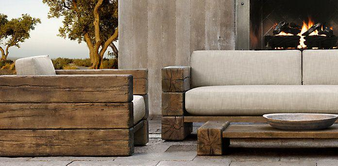 Outdoor Furniture For The Rustic At, Restoration Hardware Inspired Patio Furniture