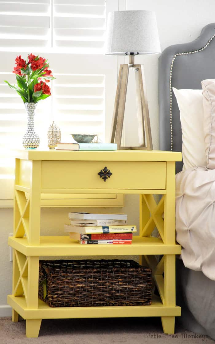 Diy Version Of Pottery Barn Clara Lattice Bedside Table