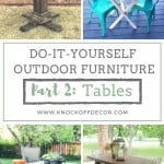 diy outdoor furniture tables