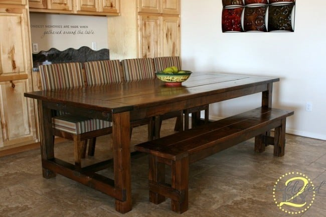 Farmhouse Table With Extensions Seats 14