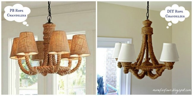 PB Rope Chandelier DIY Inspiration
