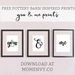 Free Pottery Barn Inspired Printables