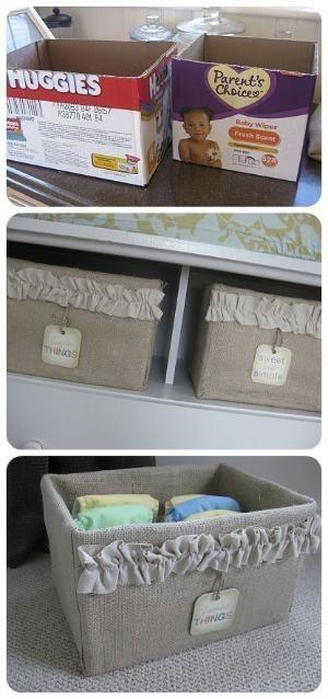 Cardboard shelf boxes