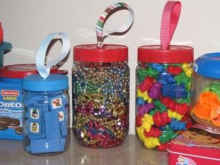 Plastic Jar Toy Storage