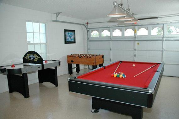 Cool Ideas To Turn Your Garage Into A Game Room - Pool table in garage
