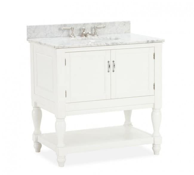 newport single sink console pottery barn