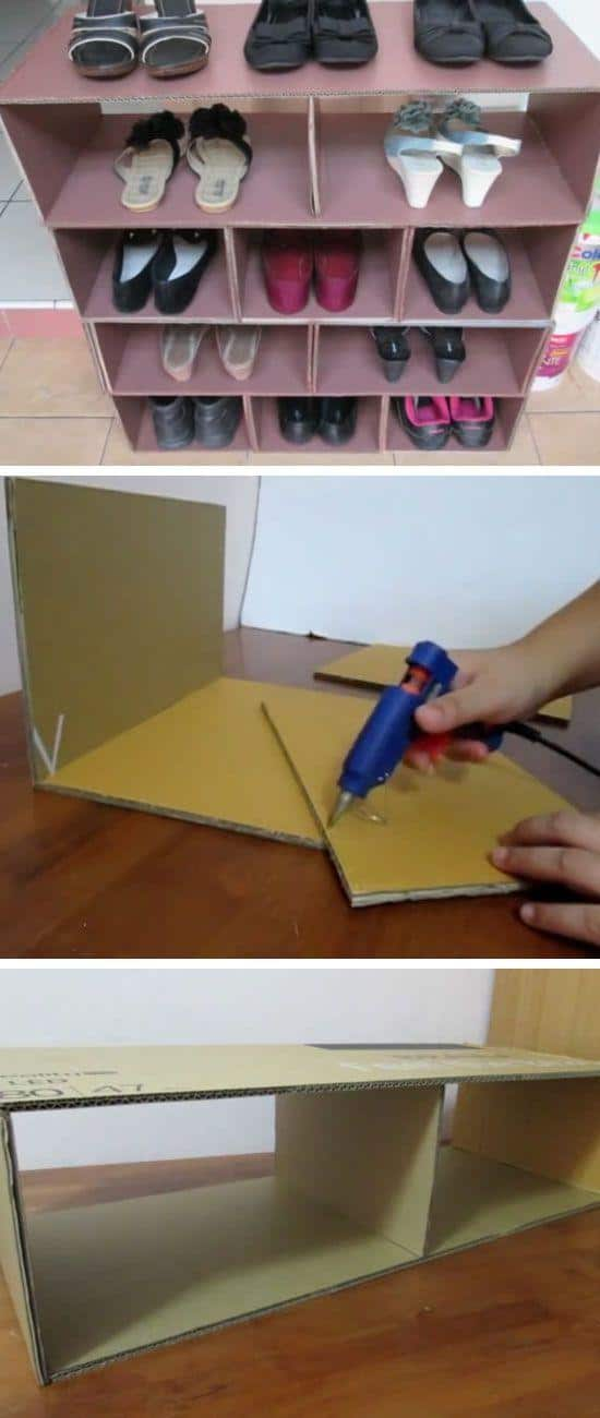 Cardboard or coroplast Shelf