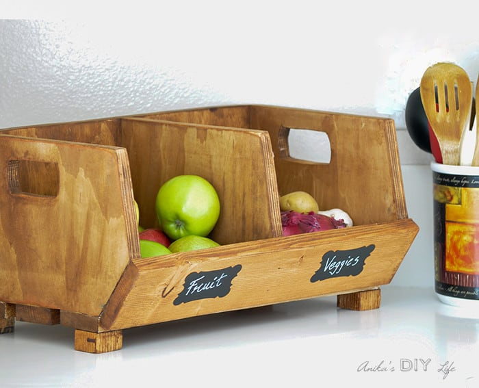 At Once Decorative And Practical Vegetable Storage Bin