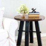 Round Side Table Rustic Appeal