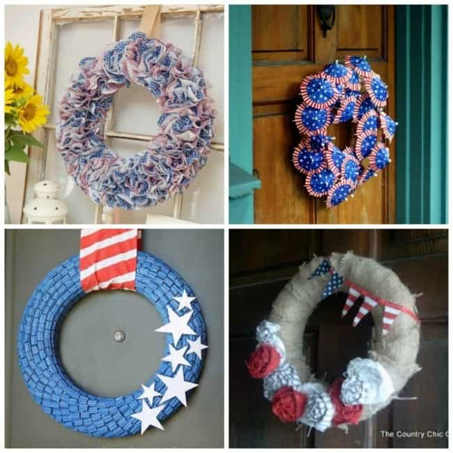 Another four 4th of July wreaths to make your decor stand out from the others.