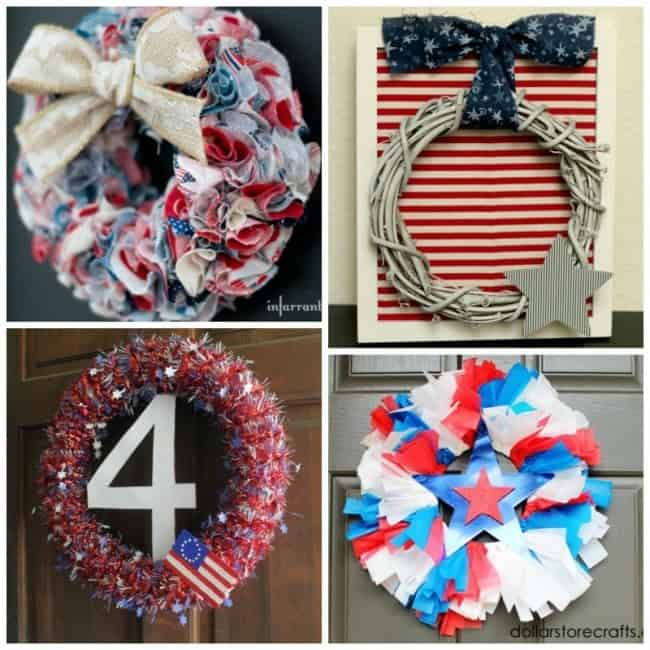 Patriotic wreaths can be simple, or so complicated that they are amazing.