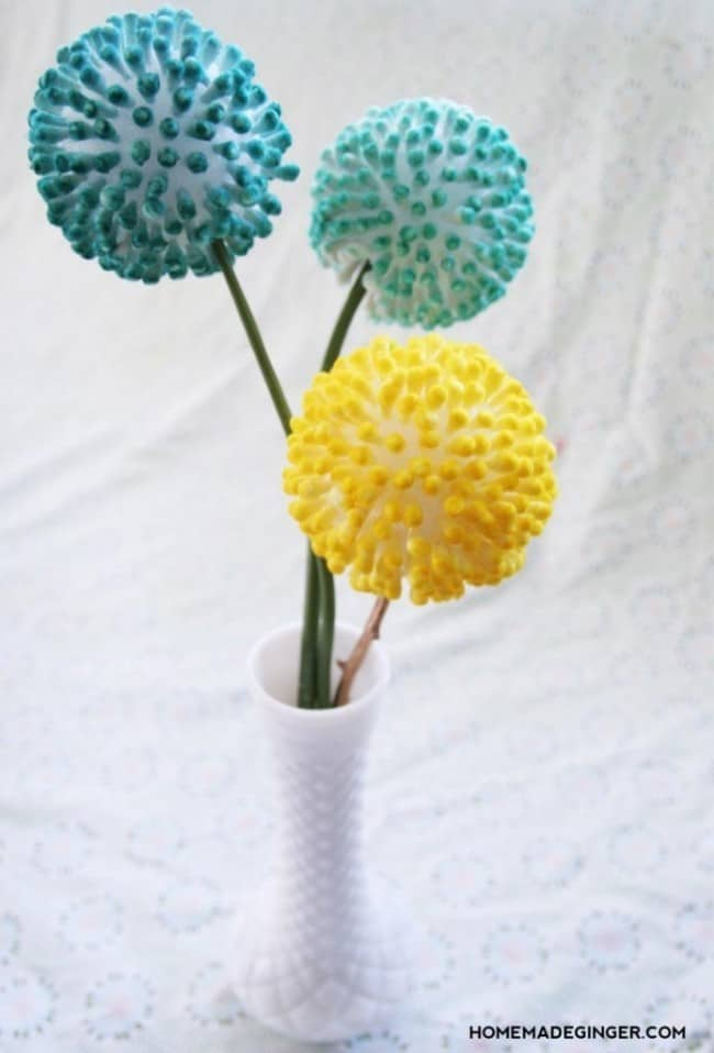 A Touch Of Whimsy Q Tip Flower Craft Knockoffdecor Com