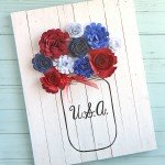 Summertime Decor Tip: Create Wooden Signs With Rolled Paper Flowers