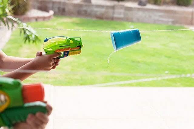 Water Gun Cup Race