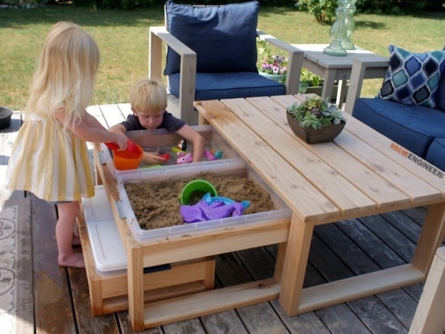 Epic The kids will be thrilled to have a sand and water table It will encourage them to go outside and get away from the tv this summer
