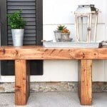 Build Your Own Sturdy Porch Bench