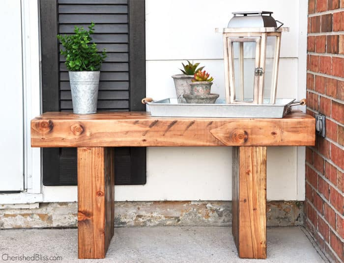 Build Your Own Sturdy Porch Bench Knockoffdecor Com