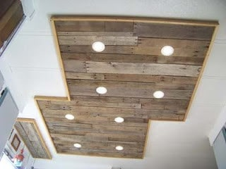 Beautifully Crafted Pallet Ceiling Light Knockoffdecor Com