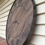 Rustic Inspired Wood Clock