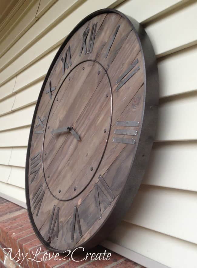 Rustic Inspired Wood Clock Knockoffdecor Com