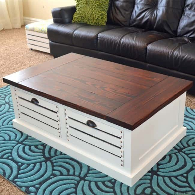 Build Your Own Coffee Table With Storage: Decorative And Practical Crate Coffee Table