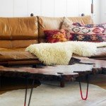 Rustic Wood Slab Coffee Table