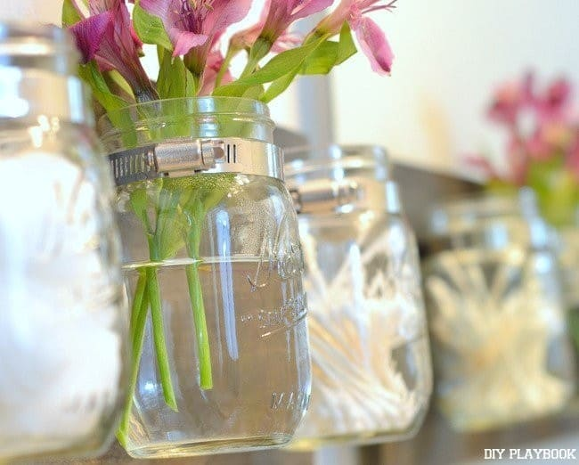 You can vary the contents of your mason jar storage space.