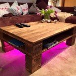 Make This Vibrant and Simple Pallet Coffee Table