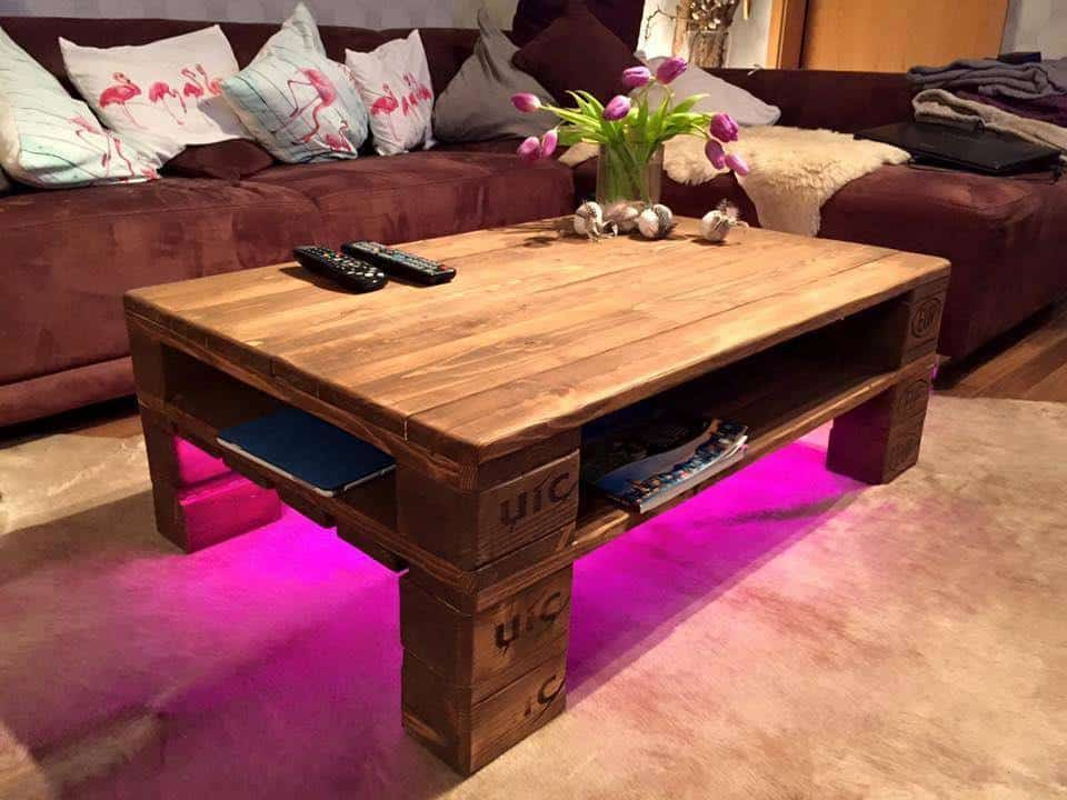 Make This Vibrant and Simple Pallet Coffee Table ...